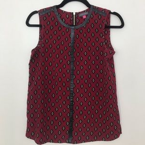 Vince Camuto Silky Patterned Top